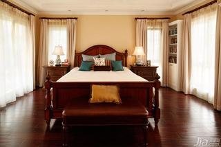 美式风格别墅140平米以上卧室实木床图片