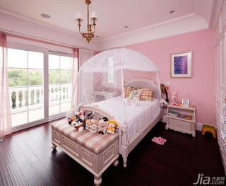 美式风格别墅粉色140平米以上儿童房儿童床效果图