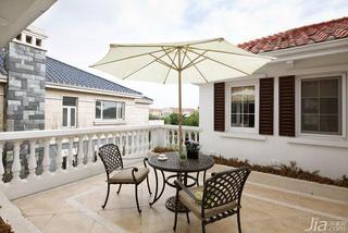美式风格别墅140平米以上露台装修效果图