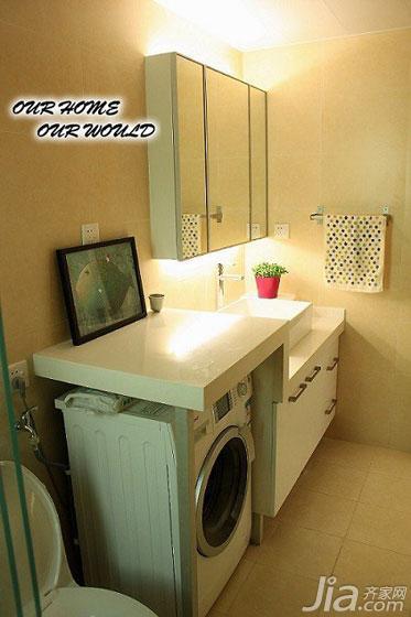 宜家风格二居室90平米卫生间装修效果图高清图片