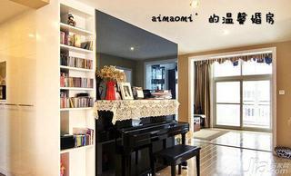 现代简约风格复式140平米以上门厅书架效果图