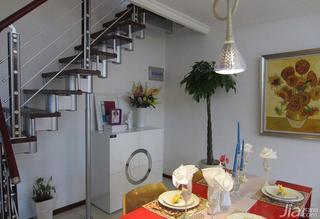 loft风格40平米餐厅楼梯设计图