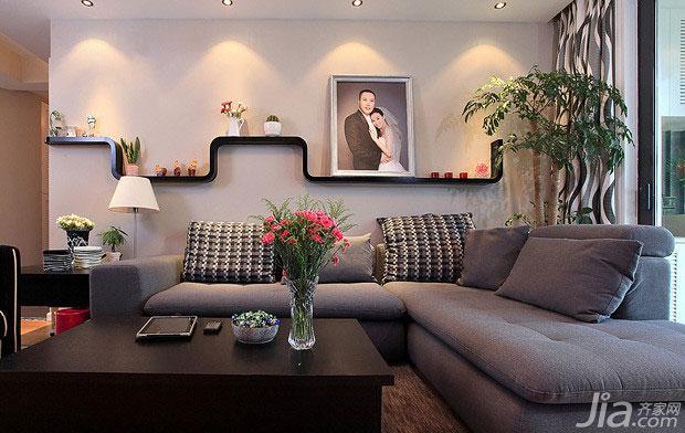 现代简约风格二居室10-15万客厅沙发图片
