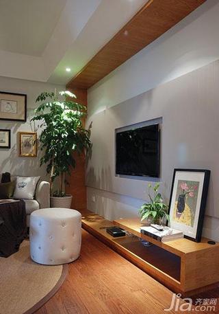 现代简约风格二居室90平米客厅电视背景墙设计