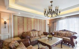 欧式风格跃层20万以上客厅沙发背景墙效果图