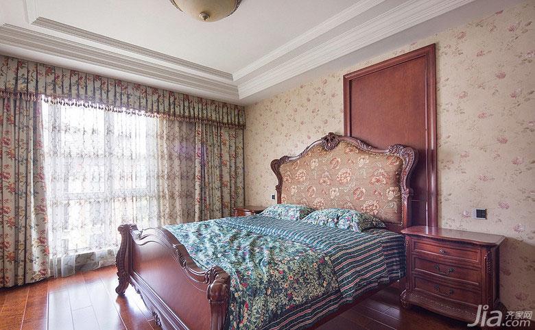 欧式风格跃层20万以上卧室床效果图