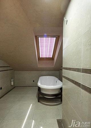 欧式风格跃层20万以上阁楼浴缸效果图