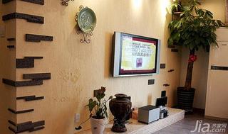 地中海风格二居室10-15万电视背景墙设计图