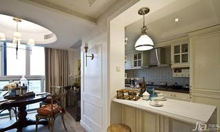 美式风格复式120平米餐厅吧台装修效果图