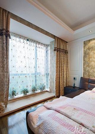 现代简约风格三居室富裕型阳台窗帘图片