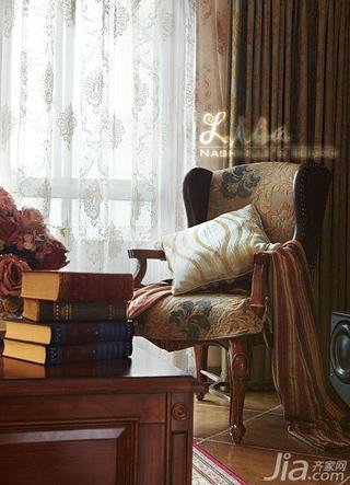 美式风格三居室浪漫20万以上客厅单人沙发图片