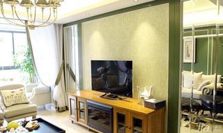 欧式风格二居室20万以上电视背景墙装修效果图