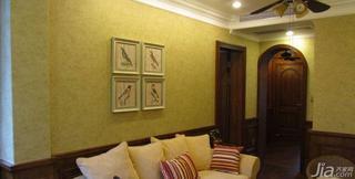 美式风格20万以上60平米沙发背景墙装修效果图