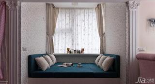 法式风格复式50平米飘窗窗帘效果图