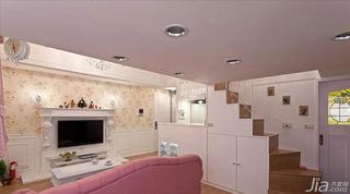 法式风格复式50平米电视背景墙设计图