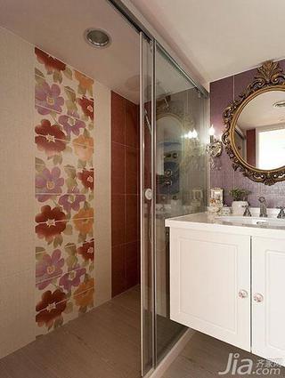 法式风格复式50平米卫生间吊顶洗手台效果图