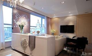 新古典风格二居室100平米客厅隔断装修图片