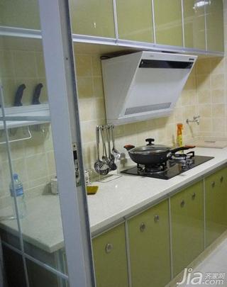 田园风格二居室90平米厨房装潢