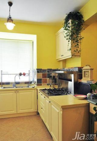地中海风格复式富裕型开放式厨房装修效果图