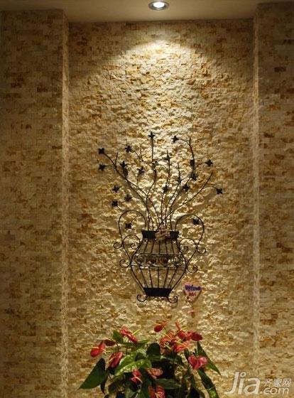 简约风格三居室130平米空中花园背景墙设计