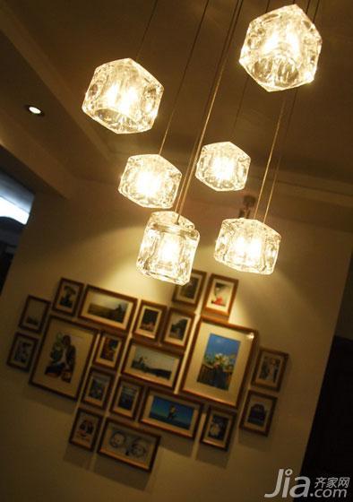 简约风格三居室130平米灯具图片