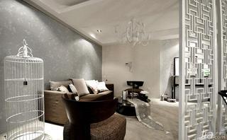新中式风格富裕型140平米以上客厅隔断装修效果图