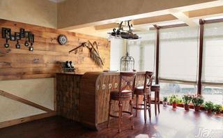 美式乡村风格别墅140平米以上吧台吧台椅效果图