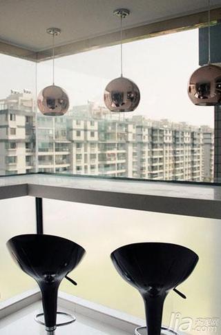 现代简约风格四房140平米以上吧台吧台椅图片