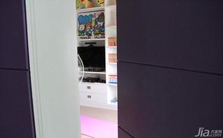 现代简约风格四房140平米以上隐形门背景墙隐形门效果图