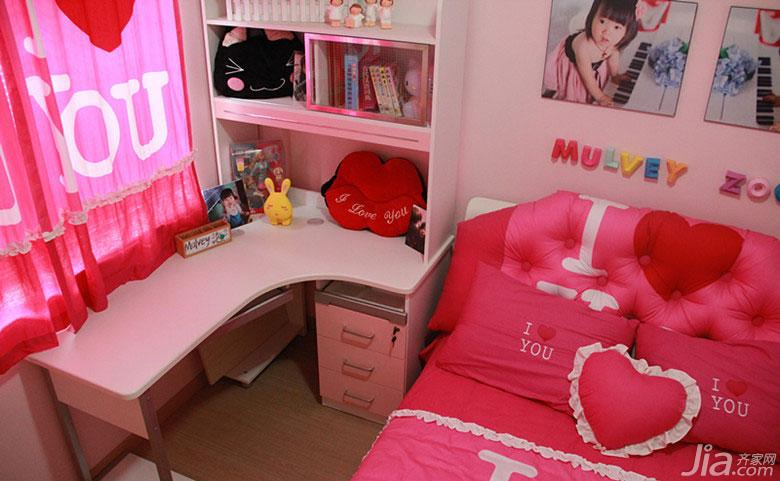 现代简约风格四房140平米以上儿童房儿童床效果图
