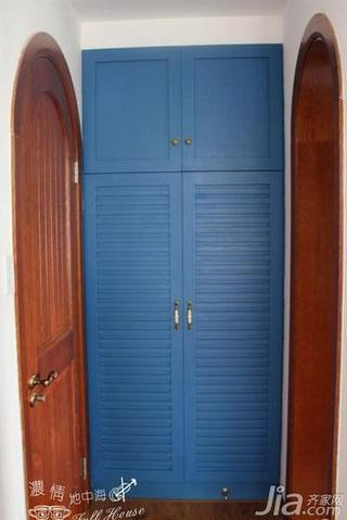 地中海风格三居室110平米衣柜设计图纸
