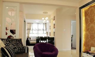 现代简约风格二居室90平米餐厅单人沙发图片