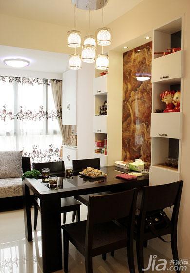现代简约风格二居室90平米餐厅改造