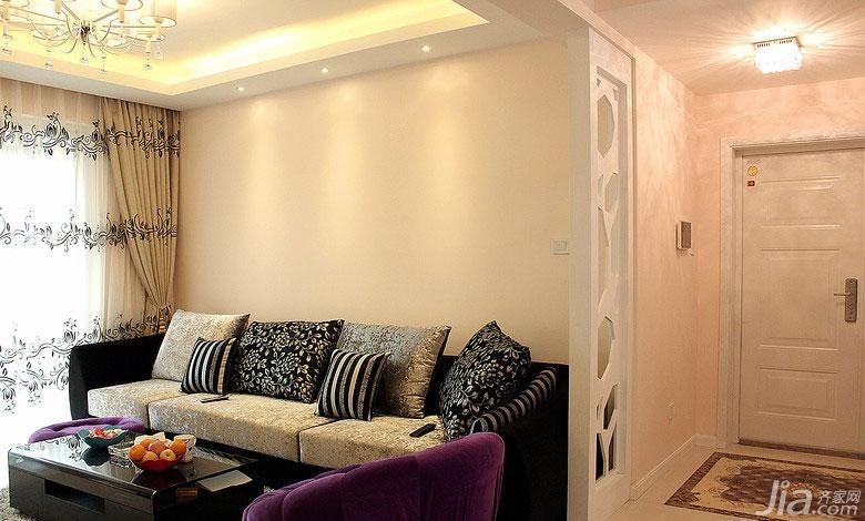 现代简约风格二居室90平米沙发图片