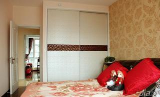 现代简约风格二居室90平米卧室衣柜设计图纸