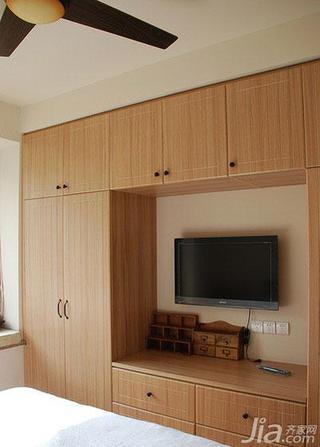 现代简约风格二居室70平米卧室电视柜效果图
