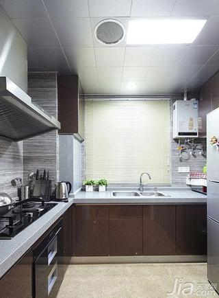 新古典风格二居室100平米厨房吊顶橱柜效果图