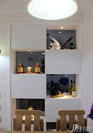 地中海风格二居室80平米餐边柜效果图
