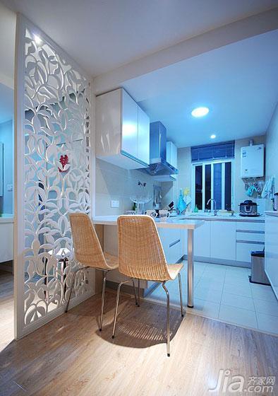 现代简约风格二居室70平米厨房隔断设计