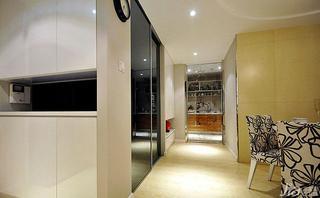 混搭风格二居室富裕型玄关衣柜设计