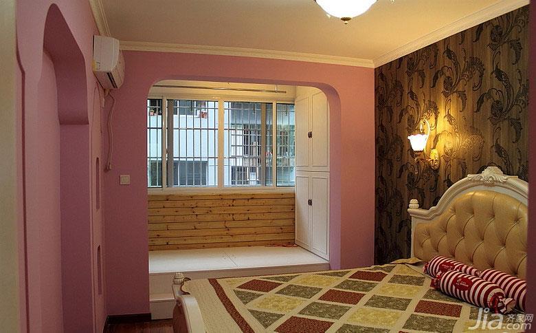 地中海风格二居室60平米卧室榻榻米设计