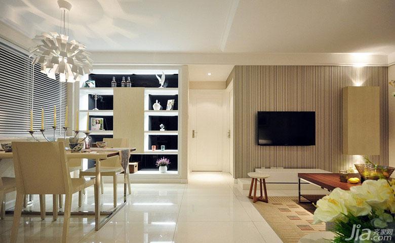 现代简约风格二居室70平米玄关设计图