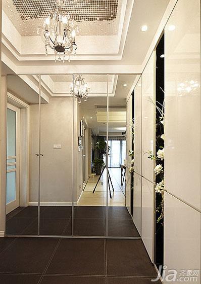 现代简约风格二居室富裕型玄关灯具效果图