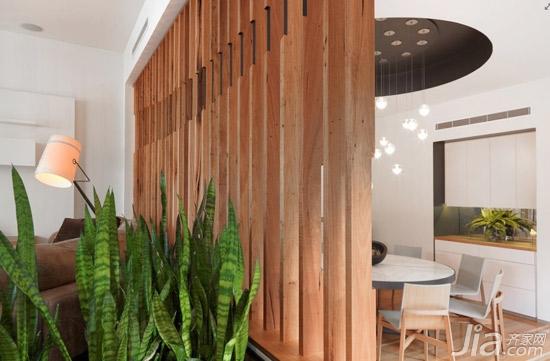 原始感的木质隔断设计图片 2013客厅装修效 高清图片
