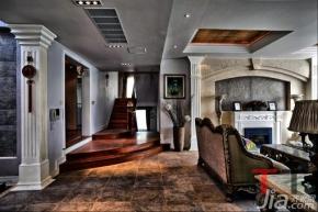 0) 楼梯公寓装修混搭风格经济型装修 意想不到的设计 300平米新中式混图片