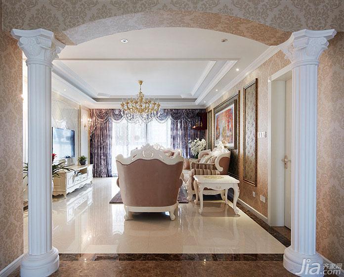 欧式风格四房140平米以上客厅装修