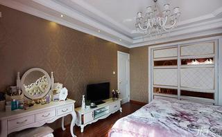 欧式风格四房140平米以上卧室背景墙梳妆台效果图