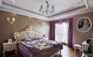 欧式风格四房140平米以上卧室窗帘效果图
