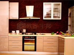 現代時尚UV烤漆閃銀色整體櫥柜