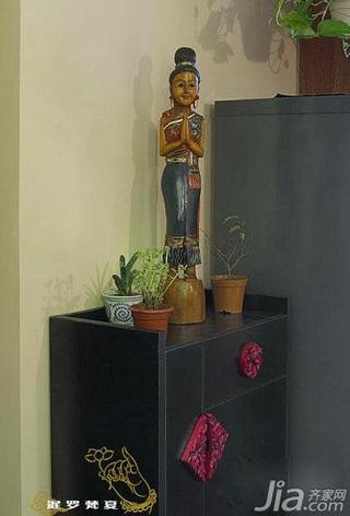 东南亚风格一居室60平米玄关玄关柜效果图
